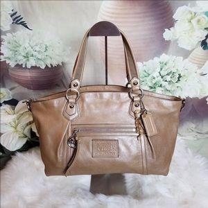 Coach 16483 Large Rocker Bag Taupe Tan Shimmer